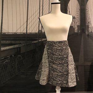 H&M Aline Black & White Speckled Skirt Sz 6